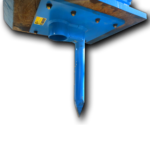 Heavy duty Excavator Spike & Cup.  Can be attached to the excavator Hoe Pac to easily poung posts and post holes.  See more...
